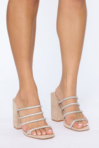Strapped In Love Heeled Sandals - Nude