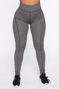 Strictly Tough Active Legging in Power Flex - Grey Angle 1