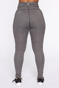 Strictly Tough Active Legging in Power Flex - Grey Angle 6
