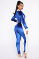 All Work No Play Jumpsuit - Royal