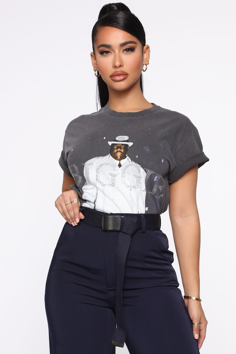Biggie Bling Top   Charcoal by Fashion Nova
