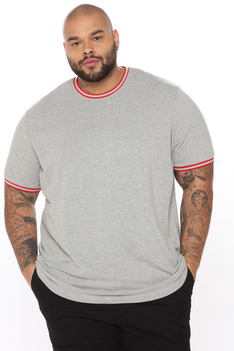 Number One Short Sleeve Tee - Heather Grey