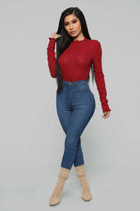 Brandy Cozy Top - Red Angle 2