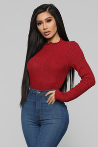 Brandy Cozy Top - Red Angle 1