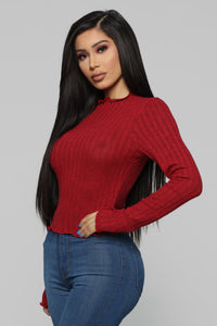 Brandy Cozy Top - Red Angle 3
