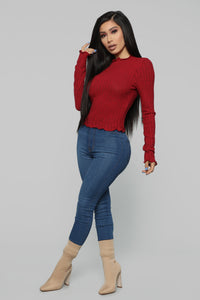 Brandy Cozy Top - Red Angle 4