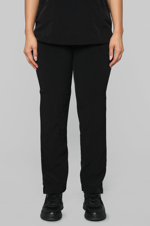Always On Call Relaxed Fit Scrub Pant -Black