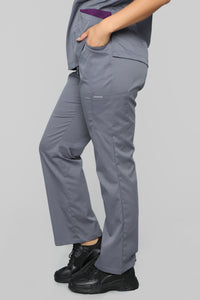 Vital Signs Fitted Scrub Set - Caribbean Grey Angle 7