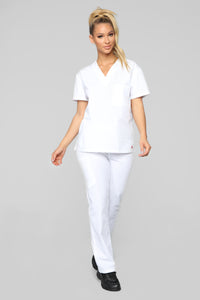 Life Saver Scrubs Pant - White