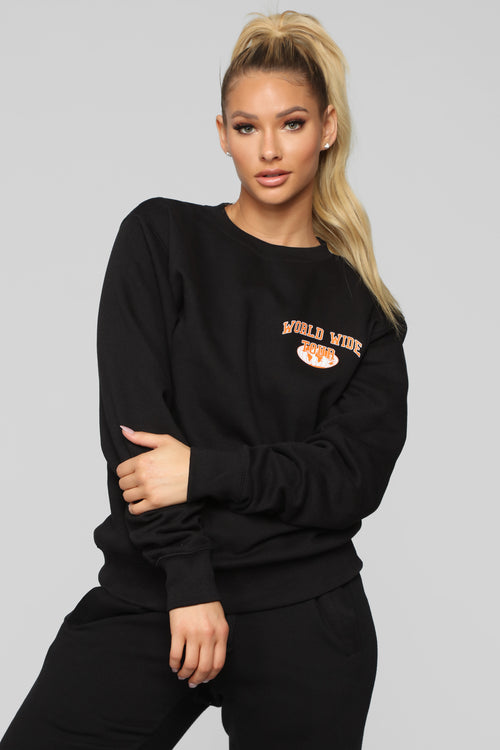 No Groupies Sweatshirt - Black