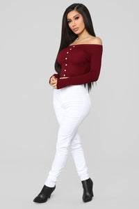 Single Mood Sweater - Burgundy