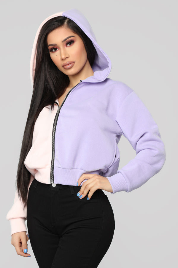 941b8485 Split Personality Sweatshirt - Purple/Combo