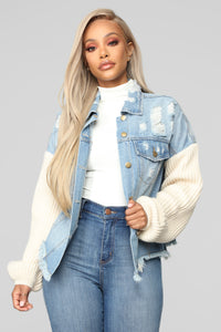Chill With Me Jacket - Medium Wash Angle 1