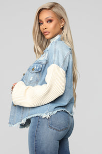Chill With Me Jacket - Medium Wash Angle 3