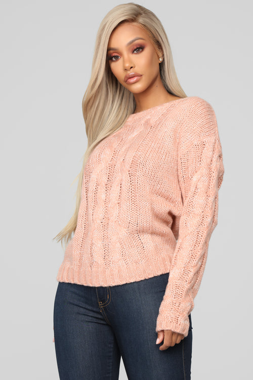 Katrina Cozy Sweater - Salmon