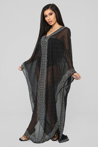 Sweet Dreams Swim Cover Up - Black Angle 3