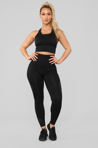 With Ease Racerback Sports Bra - Black Angle 3