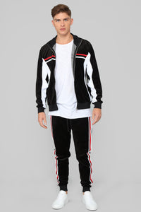 No Option Velour Jacket - Black/Multi Angle 2