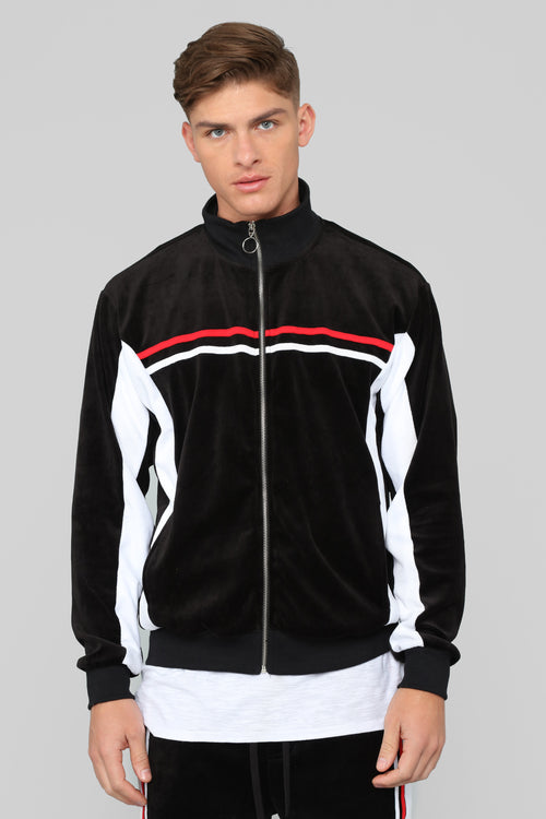 No Option Velour Jacket - Black/Multi