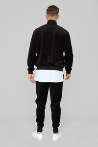 No Option Velour Jacket - Black/Multi Angle 5