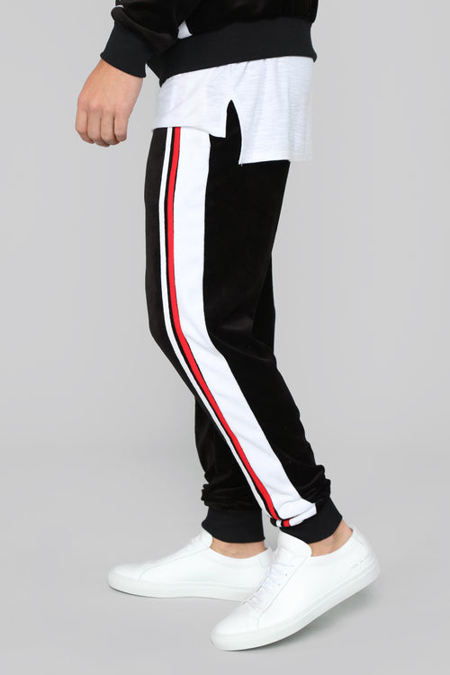 No Option Velour Jogger - Black/Multi