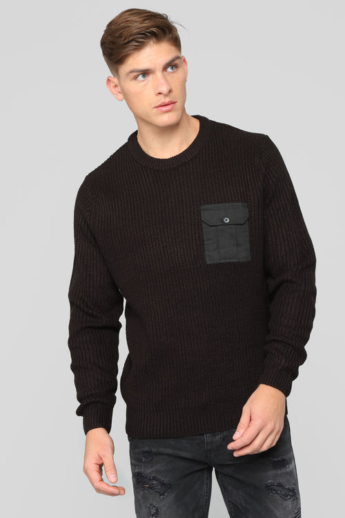 Doin' Alright Knitted Sweater - Black