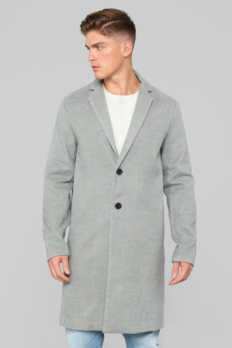 Chadwick Car Coat - Grey