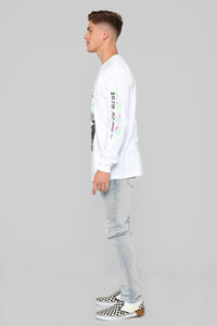 Cut Above Long Sleeve Tee - White/Combo