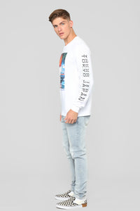 JPN Nights Long Sleeve Tee - White