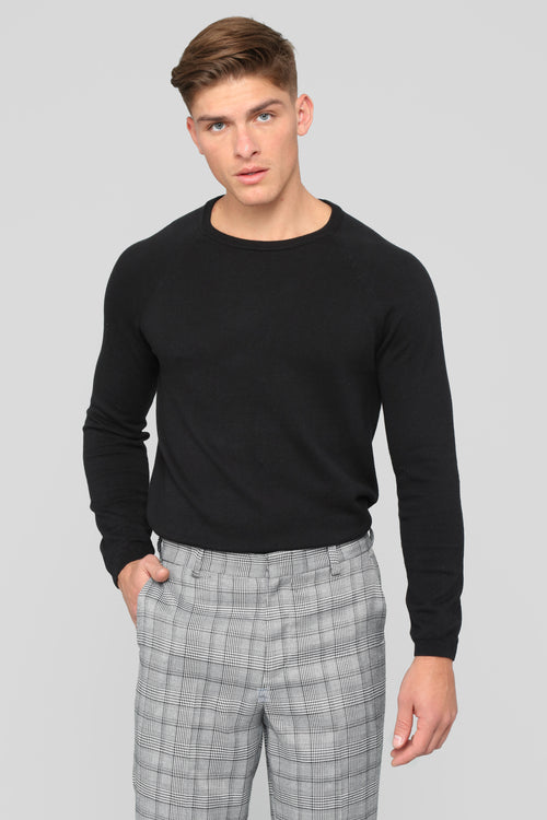 Daniel Crew Neck Sweater - Black