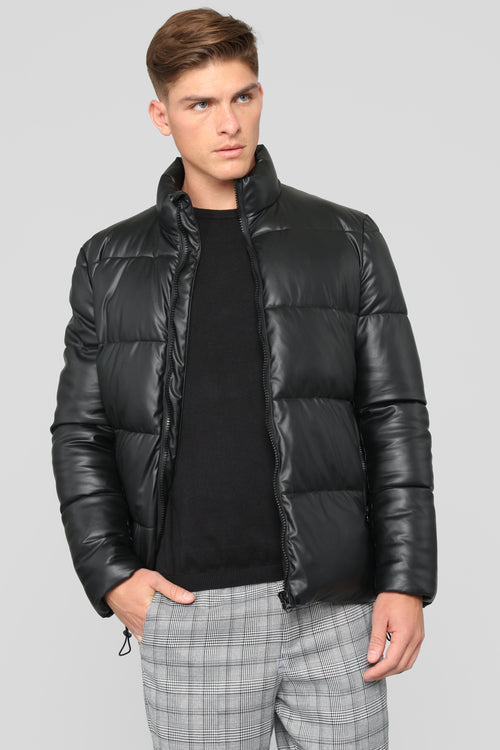 Cold Nights Puffer Jacket - Black