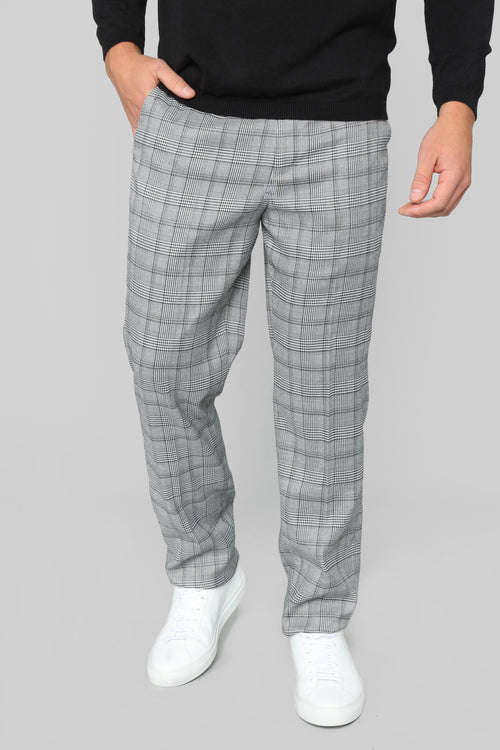 Jackson Trouser Pants - Grey Plaid