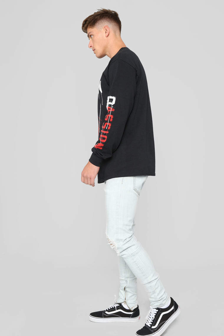 Passion Long Sleeve Tee - Black