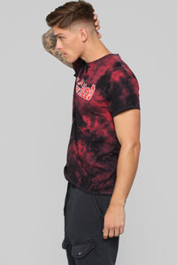 What Goes On In The Head Short Sleeve Tee- Black/Red