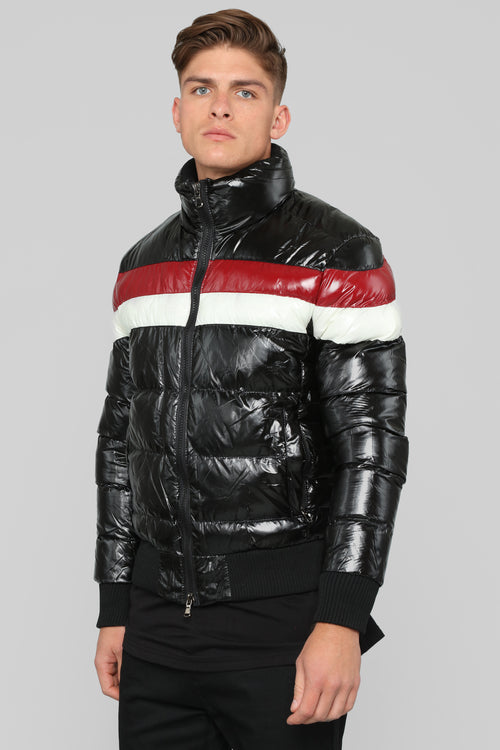 Rehab Puffer Jacket - Black