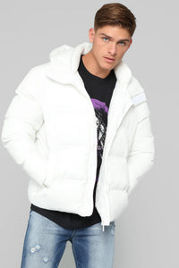 Classic Puffer Jacket - White Angle 2