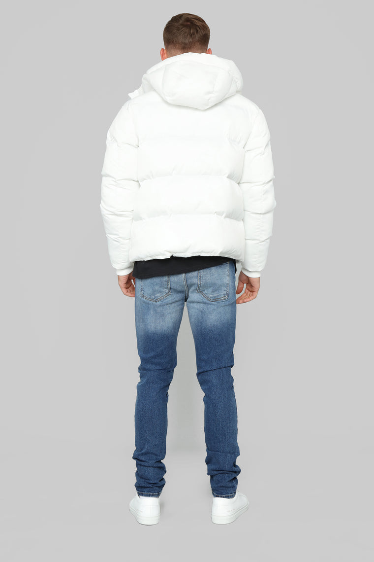 Classic Puffer Jacket - White