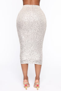 No Competition Sequins Skirt - Nude