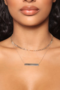 Only The Best Layered Necklace - Gold Angle 1