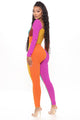 Worth The Wait Colorblock Jumpsuit - Multi Color