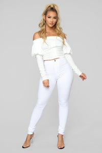 Gotta Keep It Simple Top - White