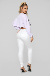 Girls' Club Sweatshirt - Lavender