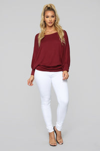 Always Remember Sweater - Burgundy