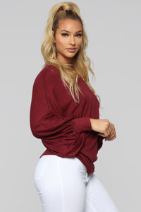 Always Remember Sweater - Burgundy Angle 3