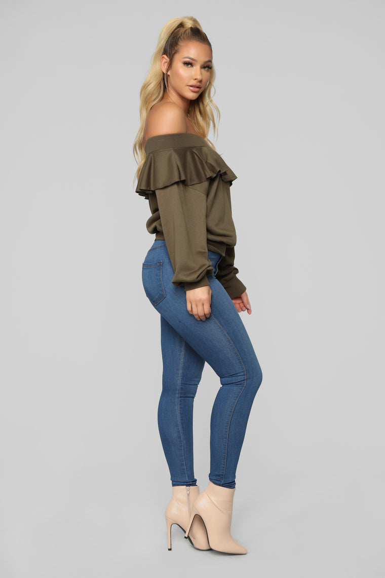 Ready For The Weekend Sweatshirt - Olive