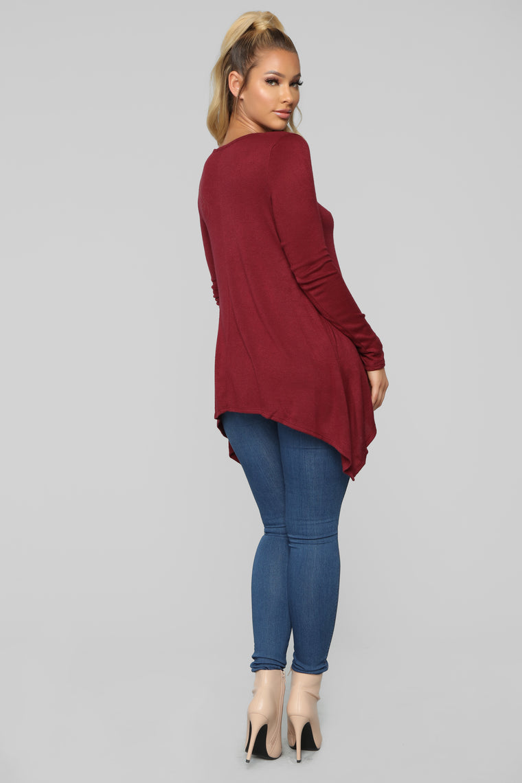 Trust Me Sweater - Burgundy