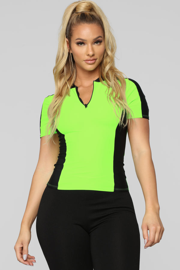 ceae733d4b We Go Way Back Top - Neon Green