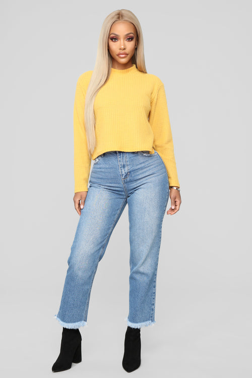Someone On My Mind Boyfriend Jeans - Medium Blue Wash
