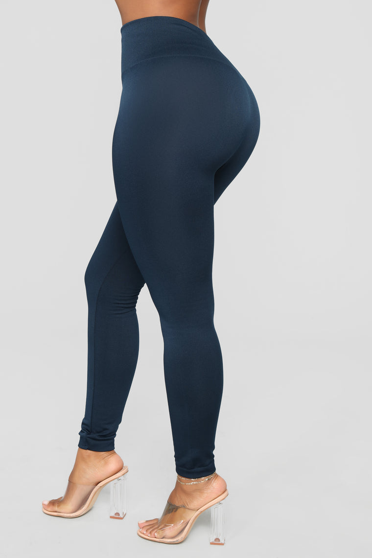 Kristin Fleece Lined Leggings - Navy