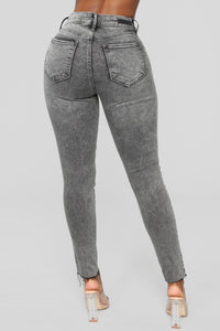 Take Me All The Way Ankle Jeans - Charcoal Angle 6